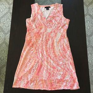 Pink and orange Calvin Klein dress